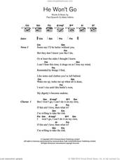 Cover icon of He Won't Go sheet music for guitar (chords) by Adele, Adele Adkins and Paul Epworth, intermediate skill level