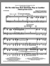 Cover icon of Hit Me With Your Best Shot / One Way Or Another (complete set of parts) sheet music for orchestra/band (Rhythm) by Mac Huff, Deborah Harry, Eddie Schwartz, Nigel Harrison, Adam Anders, Blondie, Glee Cast, Miscellaneous, Pat Benatar and Peer Astrom, intermediate skill level