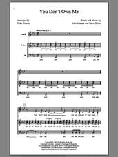 Cover icon of You Don't Own Me (arr. Deke Sharon) sheet music for choir (SATB: soprano, alto, tenor, bass) by Deke Sharon, Lesley Gore, Dave White and John Madara, intermediate skill level