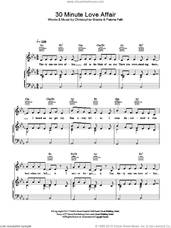 Cover icon of 30 Minute Love Affair sheet music for voice, piano or guitar by Paloma Faith and Chris Braide, intermediate skill level