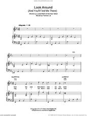 Cover icon of Look Around (And You'll Find Me There) sheet music for voice, piano or guitar by Vince Hill, Francis Lai, Lowell Mark and Norman Simon, intermediate skill level