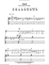 Cover icon of Start! sheet music for guitar (tablature) by The Jam and Paul Weller, intermediate skill level