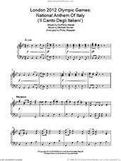 Cover icon of London 2012 Olympic Games: National Anthem Of Italy ('Il Canto Degli Italiani') sheet music for piano solo by Philip Sheppard, Goffredo Mameli and Michele Novaro, intermediate skill level