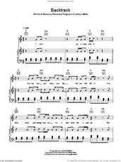 Cover icon of Backtrack sheet music for voice, piano or guitar by Rebecca Ferguson and Jonny Latimer, intermediate skill level