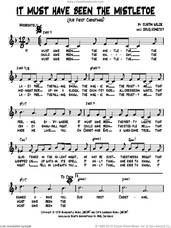 Cover icon of It Must Have Been The Mistletoe (Our First Christmas) sheet music for voice and other instruments (fake book) by Doug Konecky and Justin Wilde, intermediate skill level