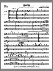 Cover icon of Scherzo (Movement II from Grand Trio, Op. 90) (COMPLETE) sheet music for flute trio by Friedrich Daniel Rudolf Kuhlau and Al Hager, classical score, intermediate skill level