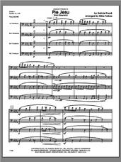 Cover icon of Pie Jesu (from Requiem) (COMPLETE) sheet music for four trombones by Gabriel Faure and Michael Forbes, classical score, intermediate skill level