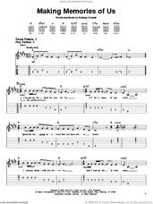 Cover icon of Making Memories Of Us sheet music for guitar solo (easy tablature) by Keith Urban and Rodney Crowell, easy guitar (easy tablature)