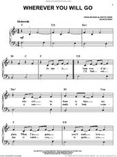 Cover icon of Wherever You Will Go sheet music for piano solo by The Calling, Aaron Kamin and Alex Band, easy skill level