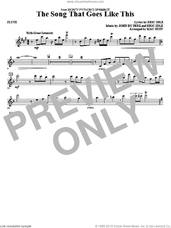 Cover icon of The Song That Goes like This sheet music for orchestra/band (flute) by Mac Huff, Eric Idle and John Du Prez, intermediate skill level