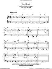 Cover icon of You Got It sheet music for piano solo by Roy Orbison, Jeff Lynne and Tom Petty, easy skill level