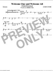 Cover icon of Welcome One And Welcome All, a festive processional sheet music for orchestra/band (percussion) by Audrey Snyder, intermediate skill level