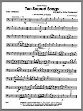 Cover icon of Ten Sacred Songs (complete set of parts) sheet music for trombone and piano by Arthur Frackenpohl, classical score, intermediate skill level