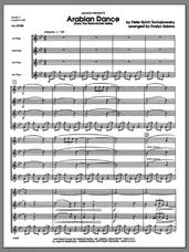 Cover icon of Arabian Dance (from The Nutcracker Suite) (COMPLETE) sheet music for flute quartet by Evelyn Sabina, Tschaikowsky and Pyotr Ilyich Tchaikovsky, classical score, intermediate skill level