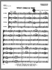 Cover icon of What Child Is This? (COMPLETE) sheet music for flute quartet by Christensen and Miscellaneous, classical score, intermediate skill level