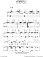 Cover icon of Hold The Line sheet music for voice, piano or guitar by Toto and David Paich, intermediate skill level