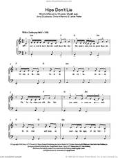 Cover icon of Hips Don't Lie sheet music for piano solo by Shakira, Jerry Duplessis, Latvia Parker, Omar Alfanno and Wyclef Jean, easy skill level