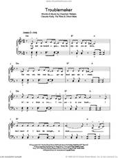 Cover icon of Troublemaker sheet music for piano solo by Olly Murs, Claude Kelly, Flo Rida, Oliver Murs and Steve Robson, easy skill level