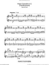 Cover icon of Piano Concerto In G, 1st Movement 'Allegramente' sheet music for piano solo by Maurice Ravel, classical score, intermediate skill level
