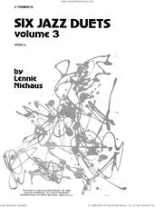Cover icon of Six Jazz Duets, Volume 3 sheet music for two trumpets by Lennie Niehaus, intermediate duet