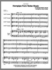 Cover icon of Hornpipe From Water Music (COMPLETE) sheet music for four trumpets and piano by George Frideric Handel and Lloyd Conley, classical score, intermediate skill level