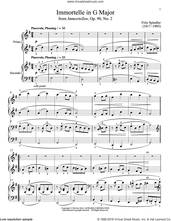 Cover icon of Immortelle In G Major sheet music for piano four hands by Bradley Beckman and Carolyn True, classical score, intermediate skill level