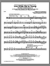Cover icon of Live While We're Young (The Best of Glee Season 4) sheet music for orchestra/band (bass) by Mac Huff, intermediate skill level