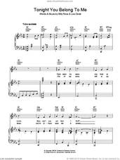 Cover icon of Tonight You Belong To Me sheet music for voice, piano or guitar by Billy Rose and Lee David, intermediate skill level