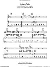 Cover icon of Hollow Talk sheet music for voice, piano or guitar by Choir Of Young Believers, Anders Rhedin, Fridolin Schjoldan and Jannis Makrigiannis, intermediate skill level