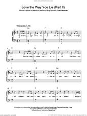 Cover icon of Love The Way You Lie, Part II sheet music for piano solo by Rihanna, Rihanna feat. Eminem, Grant Alexander, Holly Brook and Marshall Mathers, easy skill level