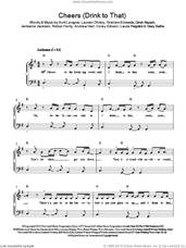 Cover icon of Cheers (Drink To That) sheet music for piano solo by Rihanna, Andrew Harr, Avril Lavigne, Corey Gibson, David Alspach, Graham Edwards, Jermaine Jackson, Laura Pergolizzi, Lauren Christy, Robyn Fenty and Stacy Barthe, easy skill level