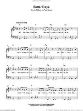 Cover icon of Better Days sheet music for piano solo by Pete Murray, easy skill level