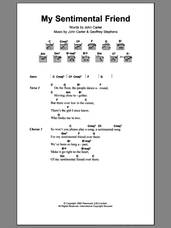 Cover icon of My Sentimental Friend sheet music for guitar (chords) by Herman's Hermits, Geoff Stephens and John Carter, intermediate skill level