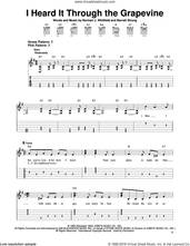 Cover icon of I Heard It Through The Grapevine sheet music for guitar solo (easy tablature) by Creedence Clearwater Revival, Gladys Knight & The Pips, Marvin Gaye, Michael McDonald, Barrett Strong and Norman Whitfield, easy guitar (easy tablature)