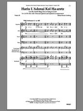 Cover icon of Hariu L'Adonai sheet music for choir by Elaine Broad-Ginsberg, intermediate skill level
