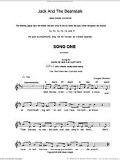 Cover icon of Song 1 (from Jack And The Beanstalk) sheet music for voice and other instruments (fake book) by Alison Hedger and Douglas Wootton, intermediate skill level