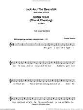Cover icon of Song 4 (from Jack And The Beanstalk) sheet music for voice and other instruments (fake book) by Alison Hedger and Douglas Wootton, intermediate skill level