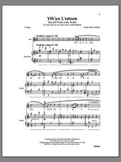 Cover icon of Yih'yu L'ratzon sheet music for choir by Benjie Ellen Schiller, intermediate skill level