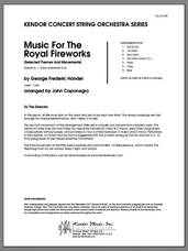 Cover icon of Music For The Royal Fireworks (Selected Themes And Movements) (COMPLETE) sheet music for orchestra by George Frideric Handel and John Caponegro, classical score, intermediate skill level