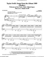 Cover icon of Taylor Swift: Songs from the Album 1989 (complete set of parts) sheet music for orchestra/band by Mark Brymer, Johan Schuster, Max Martin, Shellback and Taylor Swift, intermediate skill level