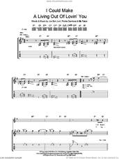 Cover icon of I Could Make A Living Out Of Lovin' You sheet music for guitar (tablature) by Bon Jovi, Billy Falcon and Richie Sambora, intermediate skill level