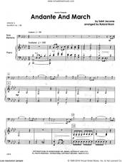 Cover icon of Andante And March (complete set of parts) sheet music for baritone t.c., b.c. and piano by Brom and Jacome, classical score, intermediate skill level