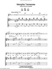 Cover icon of Memphis Tennessee sheet music for guitar (tablature) by Chuck Berry, intermediate skill level