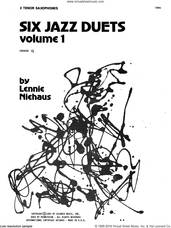 Cover icon of Six Jazz Duets, Volume 1 sheet music for two tenor saxophones by Lennie Niehaus, intermediate duet