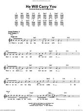Cover icon of He Will Carry You sheet music for guitar solo (chords) by Scott Wesley Brown, easy guitar (chords)