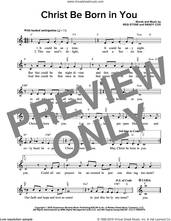 Cover icon of Christ Be Born In You sheet music for voice and other instruments (fake book) by Regi Stone, Miscellaneous and Randy Cox, intermediate skill level