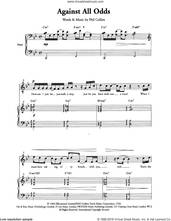 Cover icon of Against All Odds (Take A Look At Me Now) (Arr. Berty Rice) sheet music for choir by Phil Collins and Berty Rice, intermediate skill level