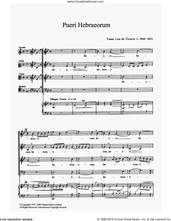 Cover icon of Pueri Hebraeorum sheet music for choir by Tomàs Luis de Victoria and TomA�A�s Luis de Victoria, classical score, intermediate skill level