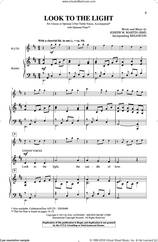 Cover icon of Look To The Light sheet music for choir (2-Part) by Joseph M. Martin and Miscellaneous, intermediate duet