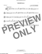 Cover icon of Snowfall sheet music for tenor saxophone solo by Claude Thornhill, Tony Bennett, Claude & Ruth Thornhill and Ruth Thornhill, intermediate skill level
